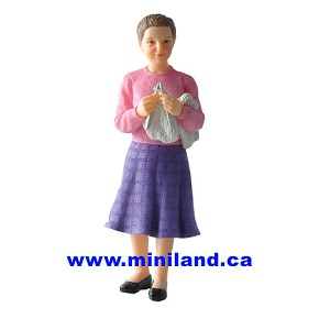 Irene - Resin Doll for 1:12 Dollhouses woman