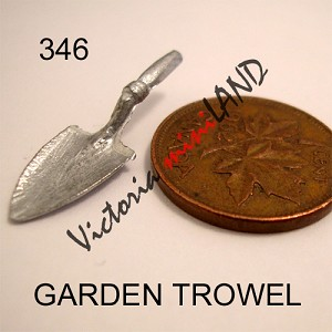 "GARDEN TROWEL 1""L unfinished DIY metal miniature for dollhouse - Do it yourself"