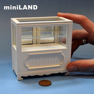 "Clearance sale - Shop store Counter unite for 1:12 dollhouse miniature DISPLAY CABINET wood White 3.3""L"