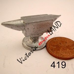 "SMALL AVRIL 1-1/4""H unfinished DIY metal miniature for dollhouse - Do it yourself"