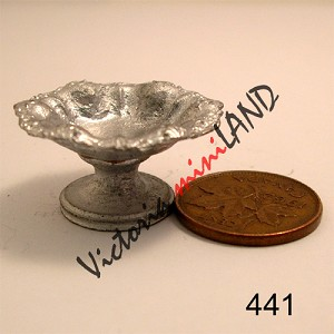 "FRUIT BOWEL with STAND 1""W unfinished DIY metal miniature for dollhouse - Do it yourself"