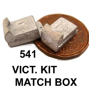VICTORIAN KIT MATCH BOX unfinished DIY metal miniature for dollhouse - Do it yourself - 2pcs