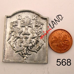 "FIREPLACE FIREBK. GR 1-3/4""H unfinished DIY metal miniature for dollhouse - Do it yourself"