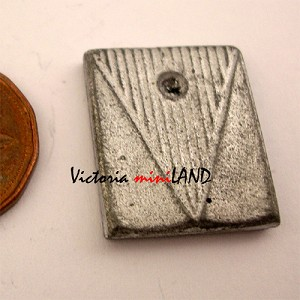 "BATHROOM SCALE  7/8""L unfinished DIY metal miniature for dollhouse - Do it yourself"