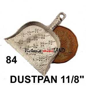 "DUSTPAN 1-1/8"" HIGH unfinished DIY metal miniature for dollhouse - Do it yourself"
