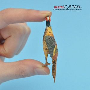 "Dead Pheasant 2-1⁄2""L For dollhouse miniatures 1:12 scale"