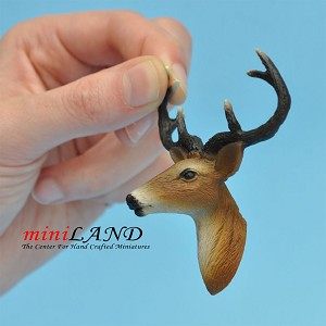 Deer Head for dollhouse miniature 1:12 scale