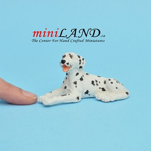 Laying Dalmatian Dog for Dollhouse miniature 1:12 scale