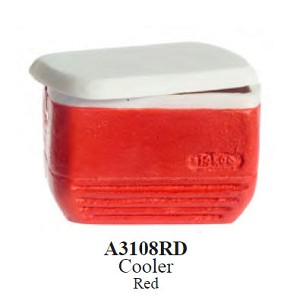 Cooler Red for dollhouse miniatures 1:12 scale