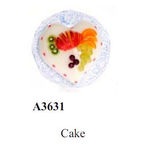 Fruit cake for dollhouse miniature 1:12 scale