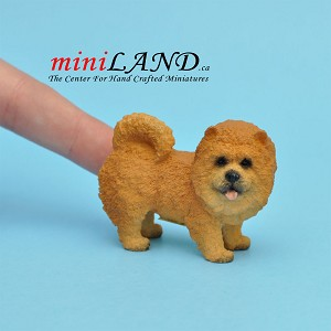 Standing, Red Chow Chow dog for Dollhouse miniature 1:12 scale