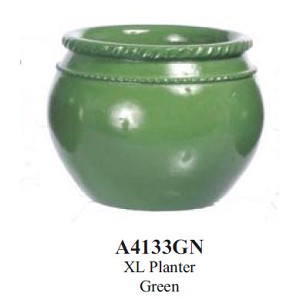 Flower Planter XL Planter Green for dollhouse miniatures 1:12 scale