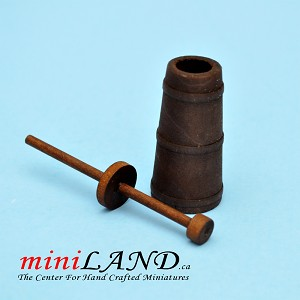 Wooden Butter Churn for dollhouse miniature 1:12 scale
