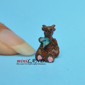 Cute baby bear stuffy toy for dollhouse miniature