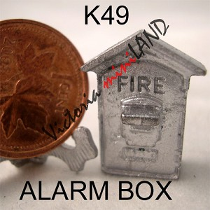 "ALARM BOX 7/8""H unfinished DIY metal miniature for dollhouse - Do it yourself"