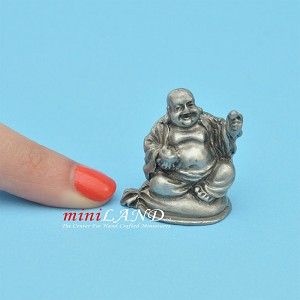 "Buddha Statue metal for dollhouse miniatures type C 1.25"" tall"