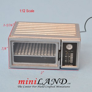 Metal quality Miniature Microwave Oven For 1:12 Dollhouse Kitchen Accessories