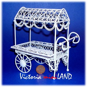 Wire big Flower Cart HBW1393-2 for 1:12 dollhouse miniature