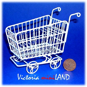 Wire Shopping Cart HBW175 for 1:12 dollhouse miniature