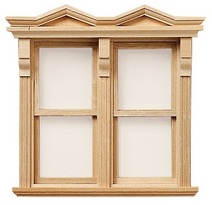 Victorian Side-by-Side Window Double Hung - Working for 1:12 Dollhouse miniature