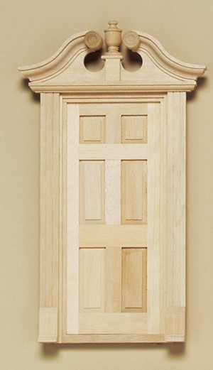 Deerfield Door Single for 1:12 Dollhouse miniature