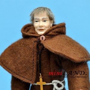 "X059 Heidi Ott Doll House old man male MONK 1:12 5.5""H"