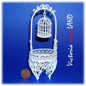 Wire Bird Cage IWF152H for 1:12 dollhouse miniature