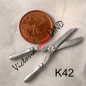 "SHEARS 1-3/4""L unfinished DIY metal miniature for dollhouse - Do it yourself"