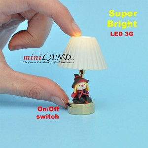 Child table LED LAMP light battery Handmade 1:12 girl Kid baby Halloween Witch