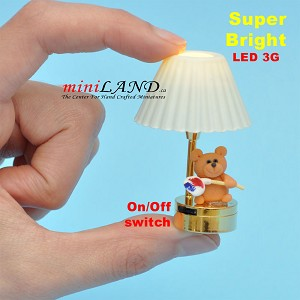 Child table LED LAMP light battery Handmade 1:12 Kid baby Draws a painting