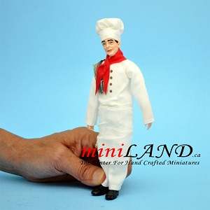 CHEF - French Chef in unifrom  1:12 scale