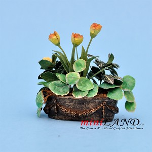 Tulips Arrangement In Window Box for dollhouse miniature 1:12 scale