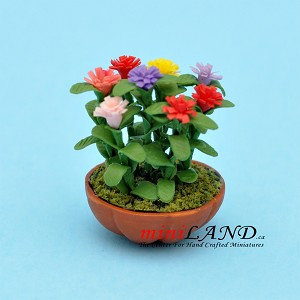 Lilliput Zinnias  for dollhouse miniature 1:12 scale