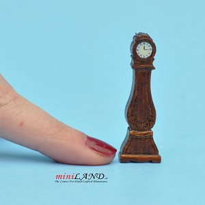 "1:48 1/4"" quarter scale grandfather clock  Top quality  walnut"