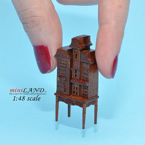 "1:48 1/4"" quarter scale Victorian dollhouse for dollhouse  Top quality  walnut"