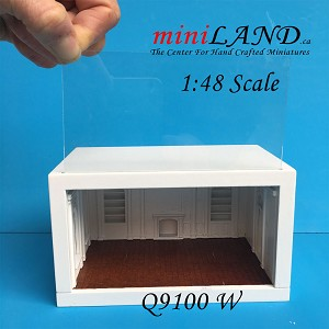 "1:48 1/4"" quarter scale EMPRESS roombox  Top quality  white"