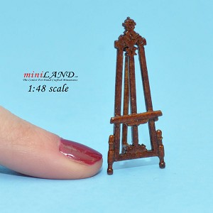 "1:48 1/4"" quarter scale easel picture stand  Top quality  walnut"
