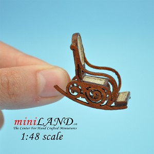 1:48 Scale Miniature HighEnd Victorian Rocking Chair