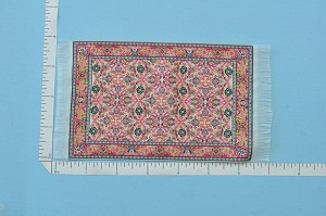 Clearance SALE - Small victorian Carpet/Rug for dollhouse miniature - 1:12 scale