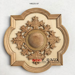 "Small Unfinished 4"" Decorated Royal ceiling panel  dollhouse miniature 1:12"