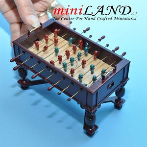 MH Foosball table dollhouse miniature 1:12 pub game room D