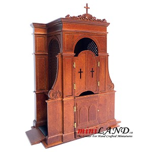 A Confessional box booth miniature dollhouse church 1:12 scale  -Top Quality