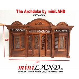 The Archduke - Quality wooden storefront facade  1:12 scale roombox dollhouse miniature walnut