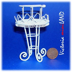 Wire Plant Stand WH095 for 1:12 dollhouse miniature