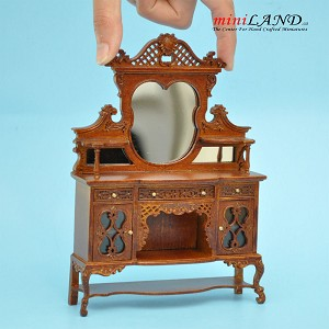 Kensington Victorian Sideboard Walnut High quality for dollhouse miniature 1:12 scale