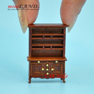 "1:48 1/4"" quarter hatch Cabinet shelves Top quality walnut for dollhouse miniature"