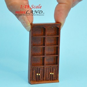 "1:48 1/4"" quarter scale tall bookcase shelves panel  Top quality walnut for dollhouse miniature"
