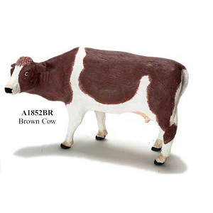 Brown cow -  for 1:12 dollhouse miniature