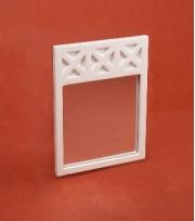 Ashley White X Mirror for dollhouse miniature 1:12 scale