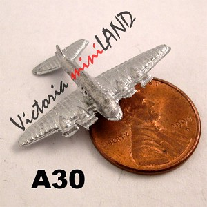 "TOY airplane 1-1/4""L unfinished DIY metal miniature for dollhouse - Do it yourself"